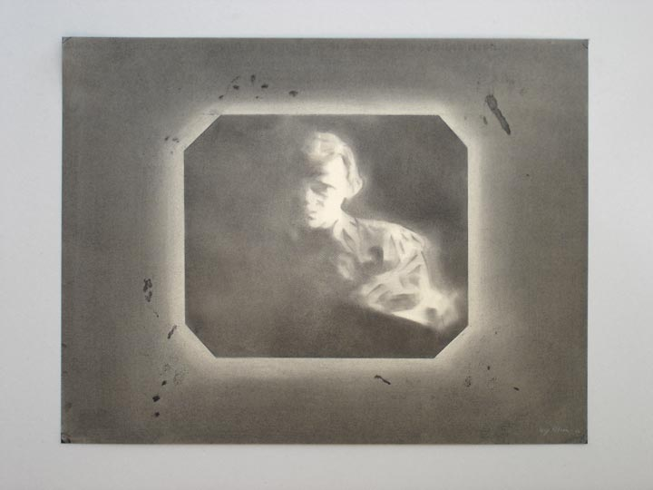 Deaf and Dumb, 2005-2006 Charcoal on paper, 50 x 65 cm