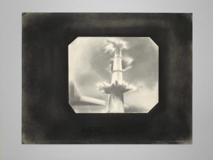 Monument, 2005-2006 Charcoal on paper, 50 x 65 cm