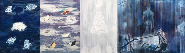 Air and Matter, 2002-03 Oil on canvas, 200 x 605 cm