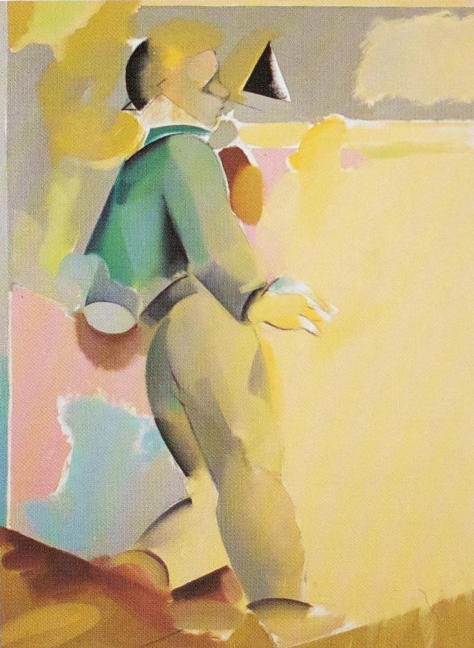 Gutten/budbringeren, 1979-80, Oil on canvas, 130 x 100 cm