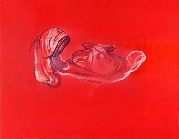 Inscription / innskrift, I, 1999 Oil on canvas, 55,5 x 71 cm