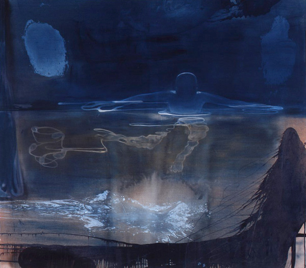 Fortid/Nåtid, 1998 Oil on canvas, 200 x 225 cm