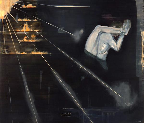 Den som bærer, 1996-97 Oil on canvas, 170 x 200 cm