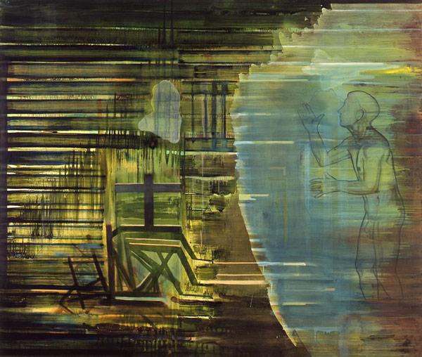 Mellom nord og syd, 1996-97 Oil on canvas, 170 x 200 cm