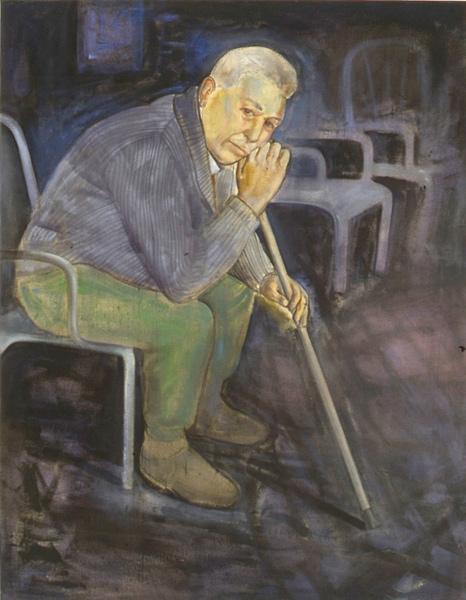 Mirando, 1992 110 x 85 cm