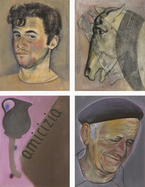 Allessandro & Salvatore, 1992 50 x 38 cm x 4