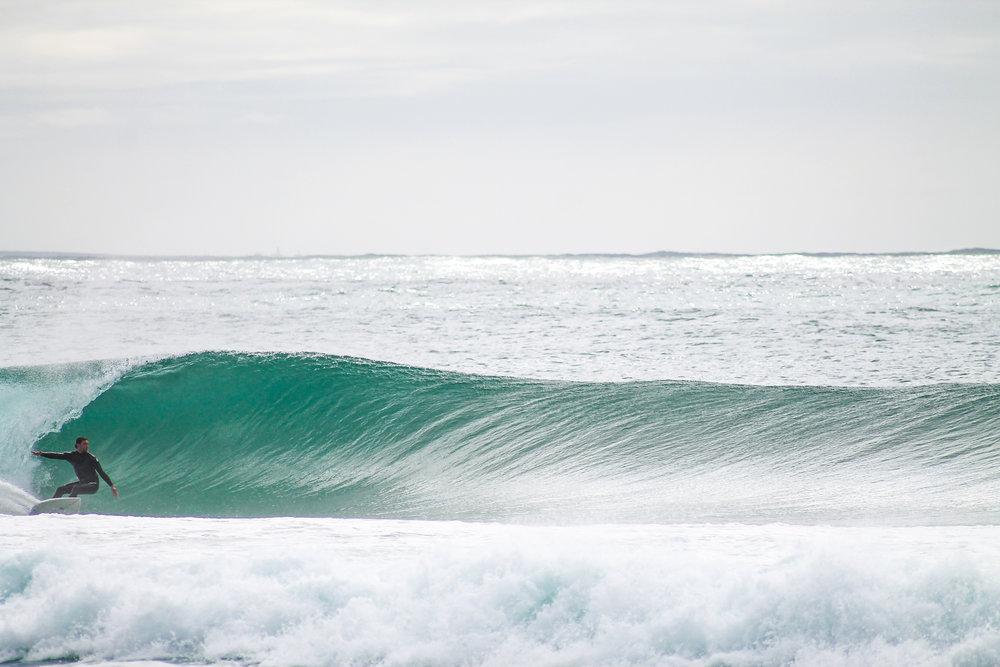 Yo surfeando en Iberia Occidental, 2018