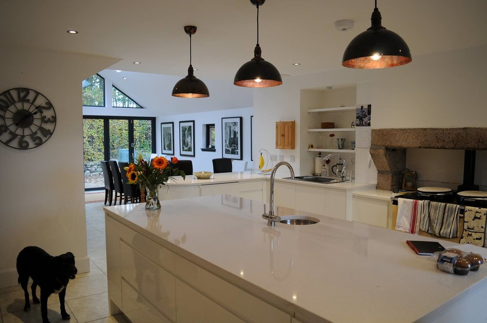 new extension kitchen area completed