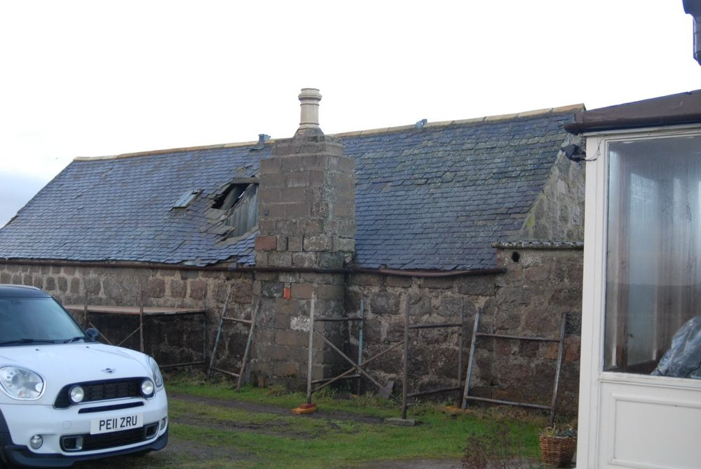 before picture old disused steading