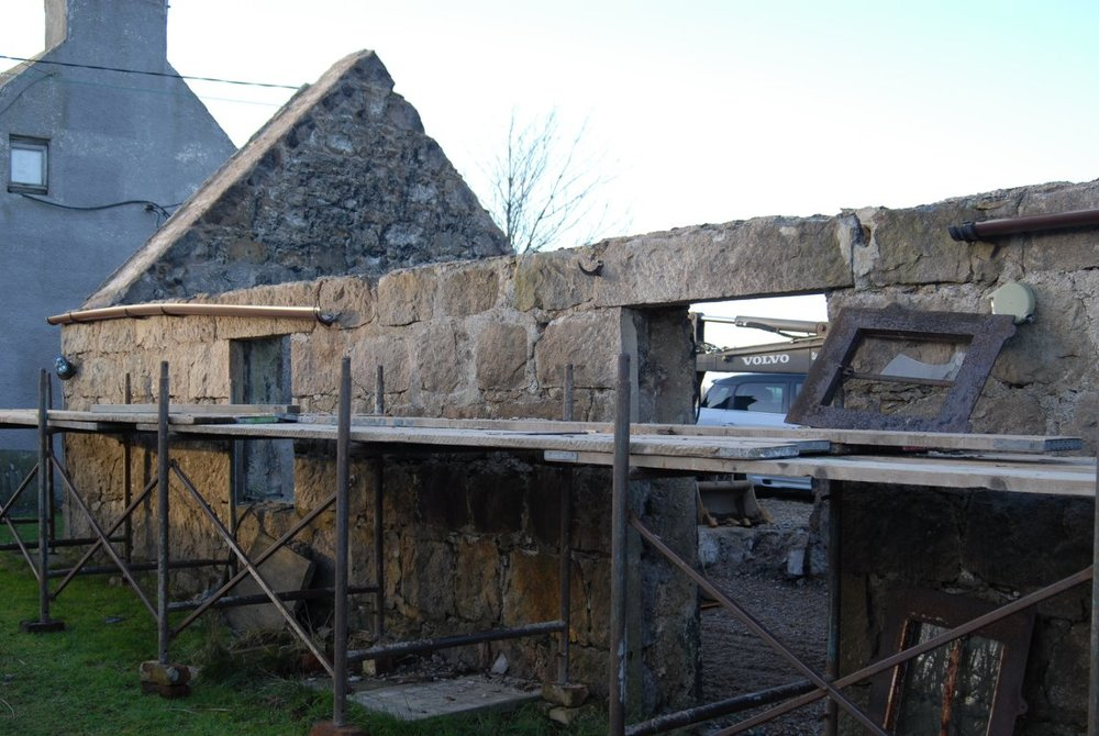 before picture disused old steading