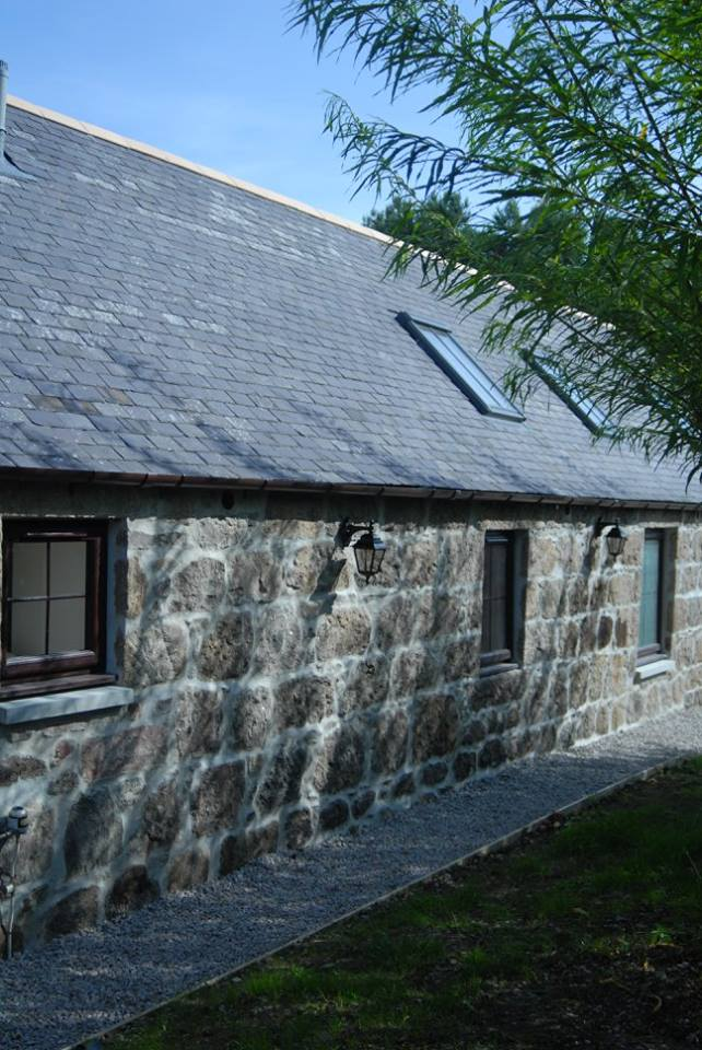 side of new steading showing brick work