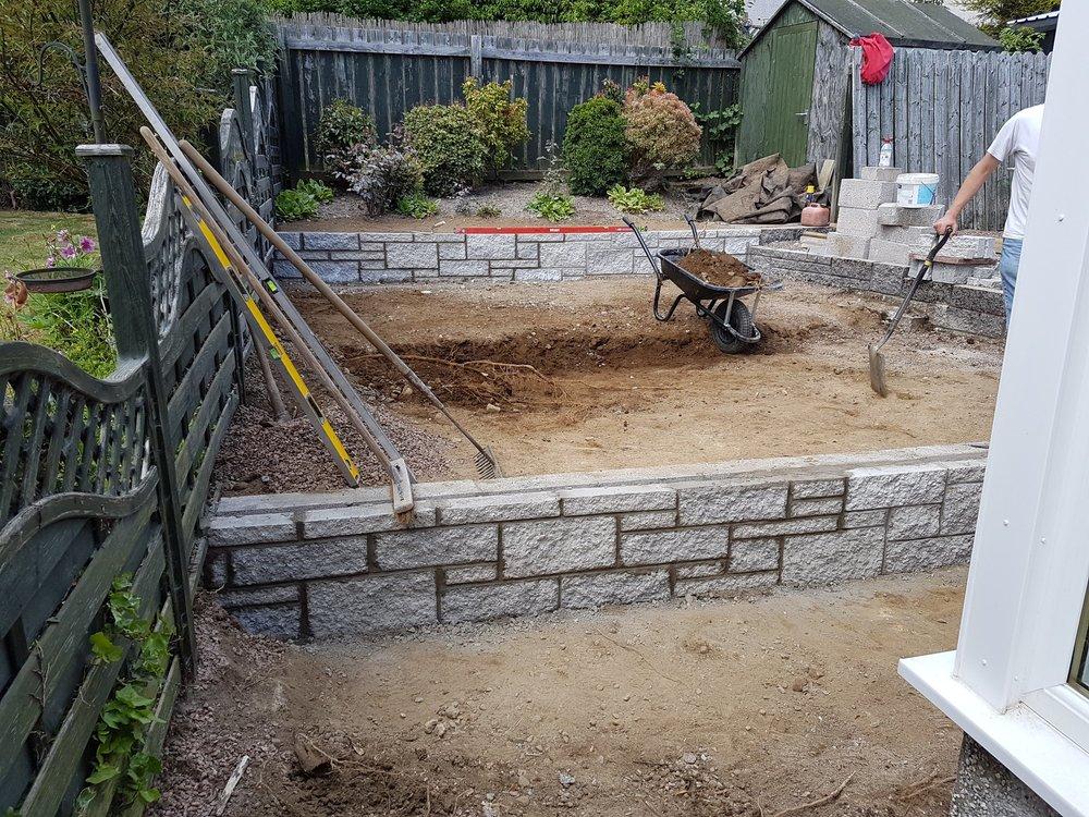 walls built in garden
