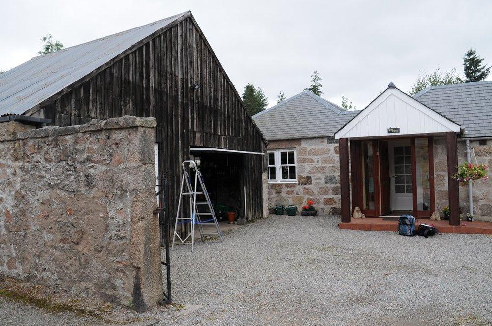 old timber garage