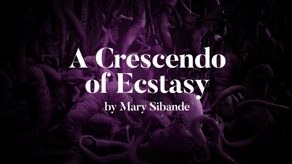 A Crescendo of Ecstasty - Mary Sibande (2018)