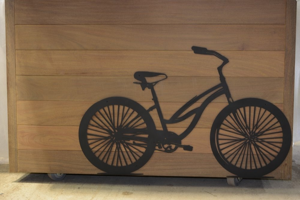 Laser Cut Metal Bike Dallas