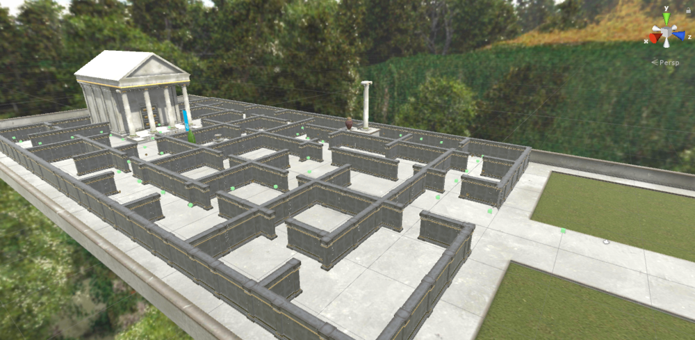 Guidelines: - Build a maze using waypoints, a key, and a door. Feel free to use these greek-themed prefabs or make your own.