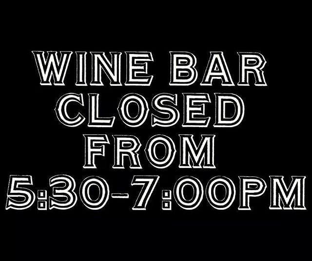 Friends! We are hosting an event this evening and will have our wine bar, kitchen, patio, and booths reserved for our guests, however, we will still be open to shoppers! #rollerswineandspirits