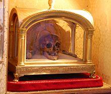 Reliquary and skull of Saint  Ivo of Kermartin  (1253–1303)