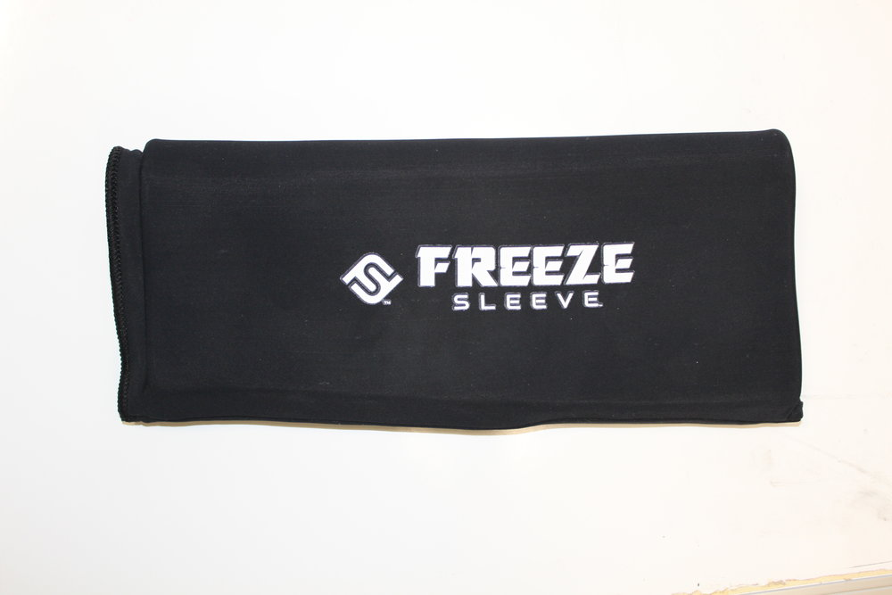 Freeze Sleeve   Cold therapy compression sleeve. Available in various colors and sizes.