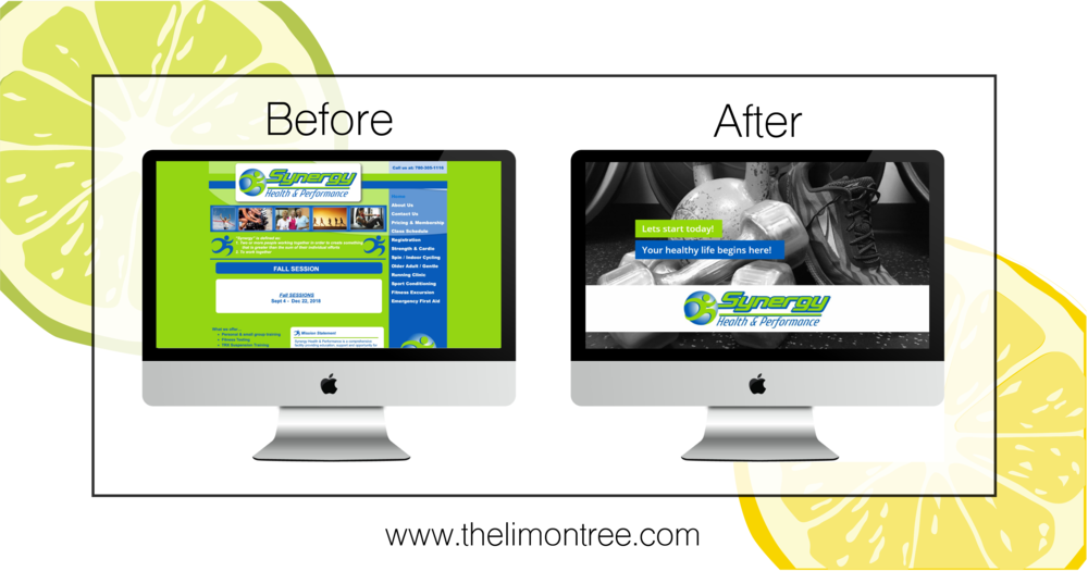 A makeover for the Synergy Health & Performance website