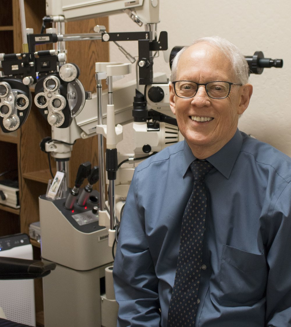"""Dr. Middleton - """"I am so blessed! I have the greatest job in the world, a wonderful staff, amazing technology and great patients. I have been practicing optometry for over 35 years and still look forward to coming to the office, helping patients see better, puzzling over unusual signs and symptoms, initiating treatment strategies and improving my patients' ocular health. I am particularly interested in treating dry eye and ocular surface disease. Computer vision syndrome is also a special interest. We have the best technology we have ever had with methods to examine the eyes in more detail than ever before. I look forward to seeing you at Family Optometry Center. Welcome to our Family!"""""""
