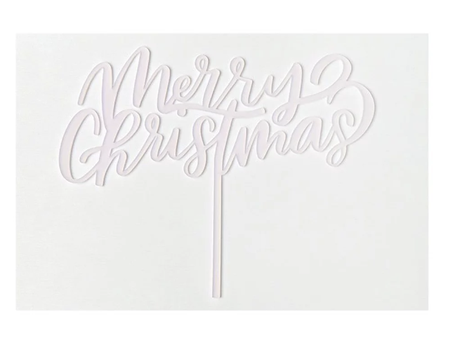 'merry christmas' cake topper - What you'll get1 - 7