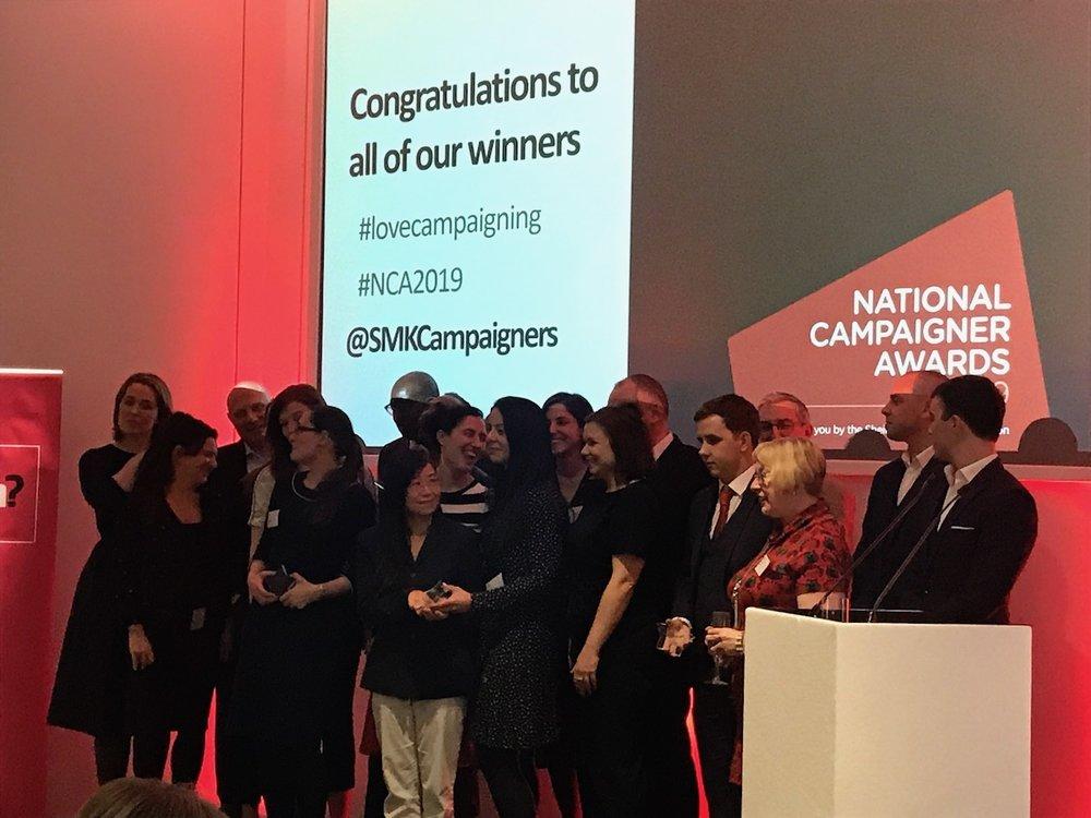 Sheila McKechnie Fonundation National Campaigner Awards 2019.JPG