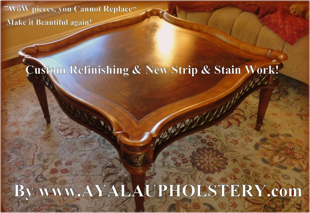 Refinishing work by Family Ayala's Upholstery Shop CP.jpg