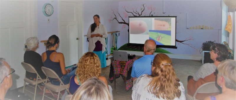 "This image is of me presenting   ""A Journey of Wilderness, Lyme Disease, and Healing the Spirit""   August 24, 2017 in Litchfield, Maine"