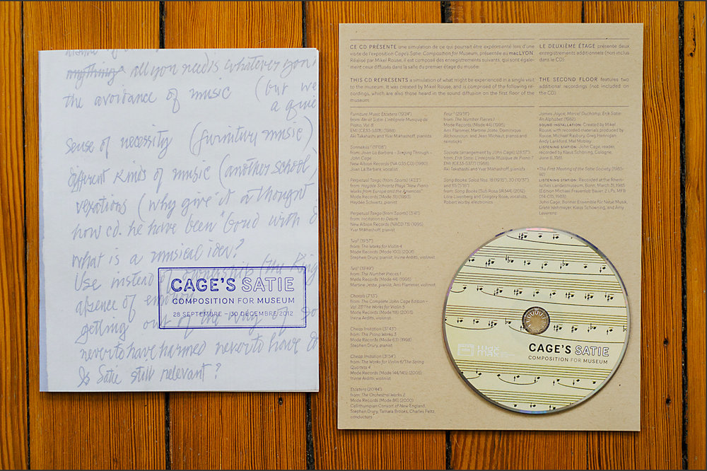 Cage's Satie Composition for Museum Catalogue