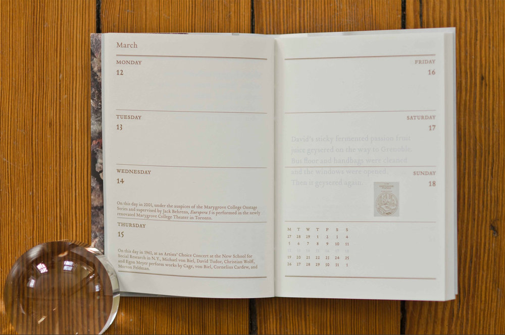 John Cage Book of Days Calendar