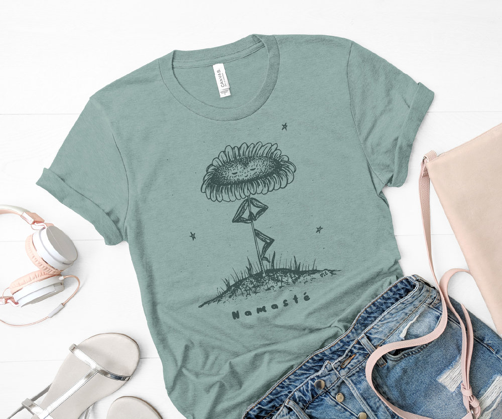 Namaste Flower t-shirt by Flower and Wild