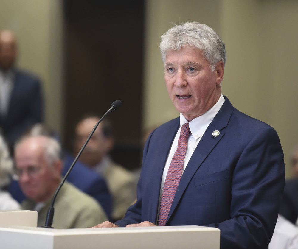East Baton Rouge Parish district attorney Hillar Moore speaks on item 61, Wednesday, August 8, 2018, during a meeting of the metro council at City Hall in Baton Rouge, La. Item 61authorized a 1.5 mills tax for a period of 10 years to be used entirely and exclusively for the purpose of operating and maintaining a treatment center that will provide mental health and substance abuse services.  Advocate staff photo by HILARY SCHEINUK