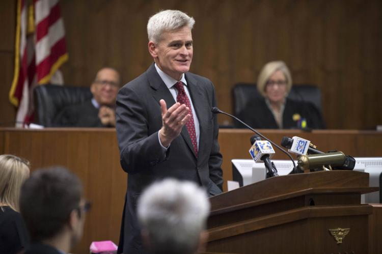 U.S. Senator Bill Cassidy, M.D. (R-LA) speaks during the Ceremonial Investiture for Brandon J. Fremin, new U.S. Attorney for the Middle District of Louisiana, at Russell B. Long Federal Building & Courthouse, Friday, August 3, 2018.