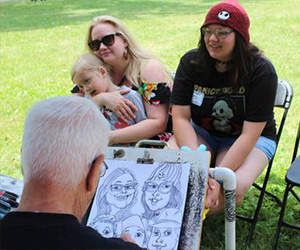 caricatures - Our talent team of professionals know exactly how to capture the character of every person.