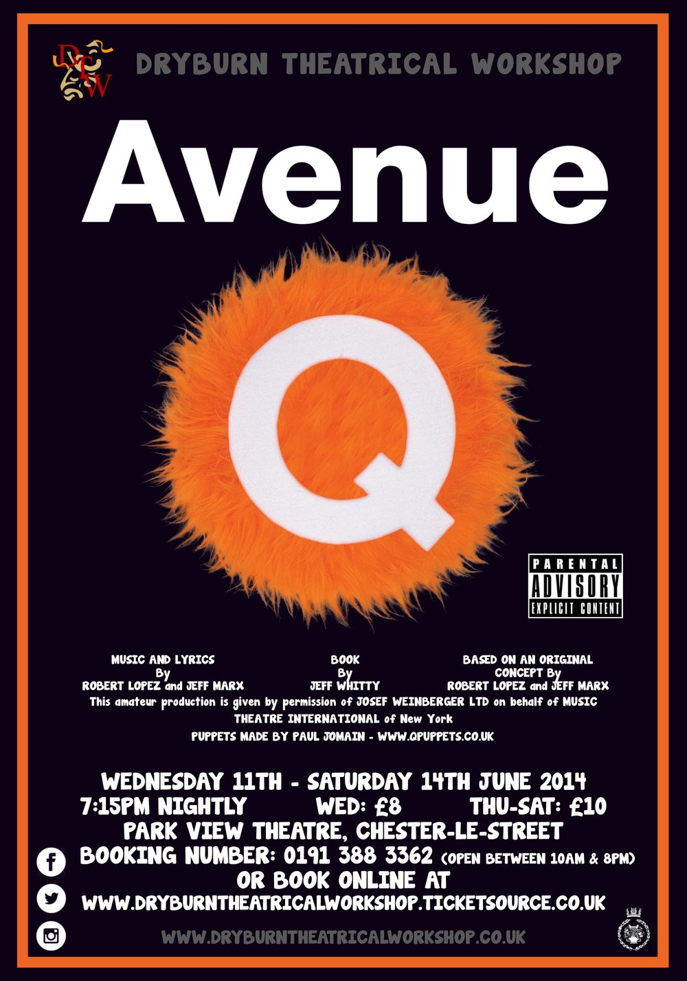 """""""AND AT THE END OF THE DAY, THERE'S NO WHERE TO GO, BUT HOME TO AVENUE Q."""" -"""