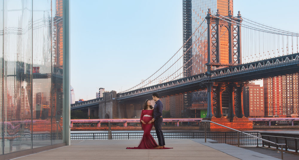 nyc maternity photoshoot manhattan bridge dumbo couple love-5943.jpg