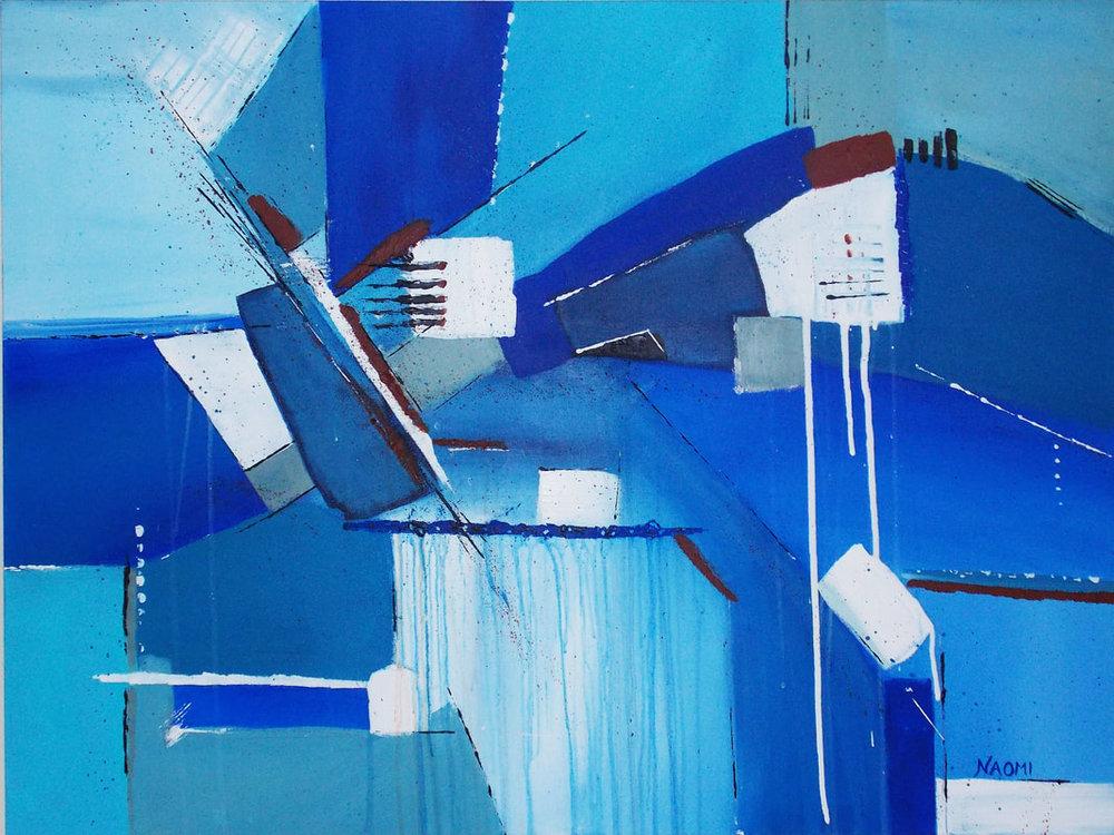 "Singing the Blues, 30"" x 40"" Original, Acrylic on Canvas"