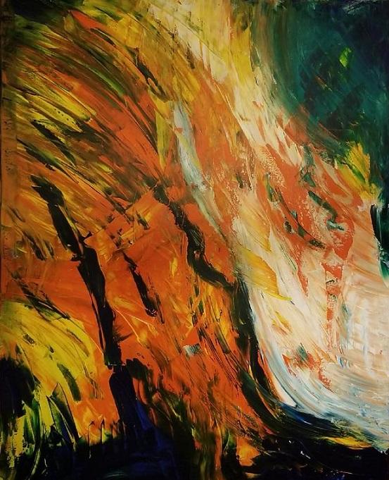 Josh, 2017. Acrylic on canvas, 48 x 60 inches.