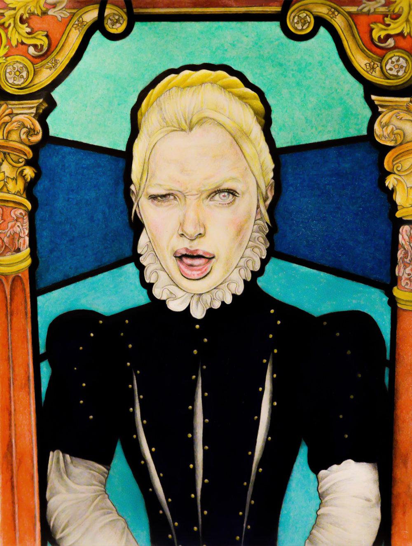 Countess, 2018. Mixed media, 45 x 60 cm