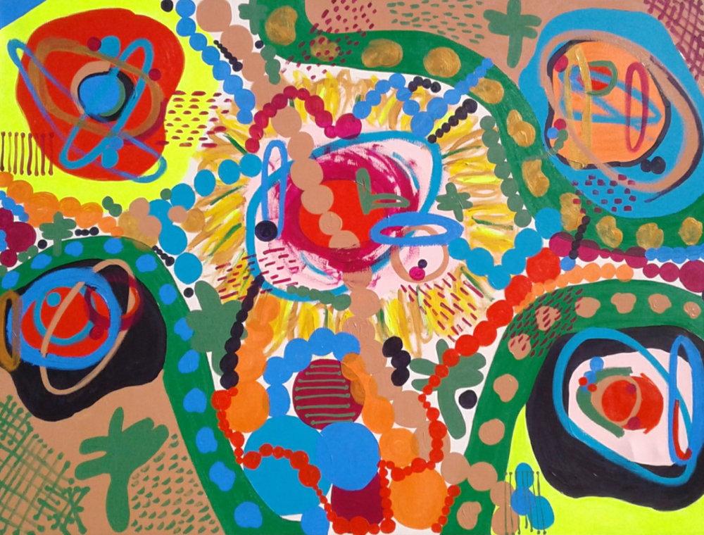 Organic, 2018. Acrylic, 60 x 80 inches, $2000