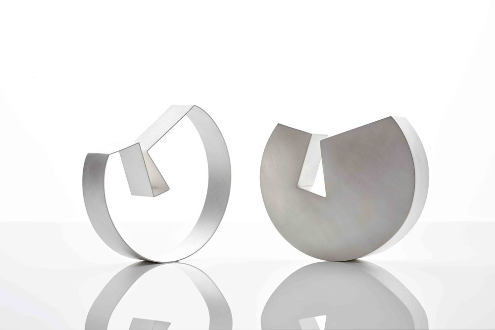 Two Bowls, 2015, Sterling Silver, 180 x 160 x 40 each, $8,250