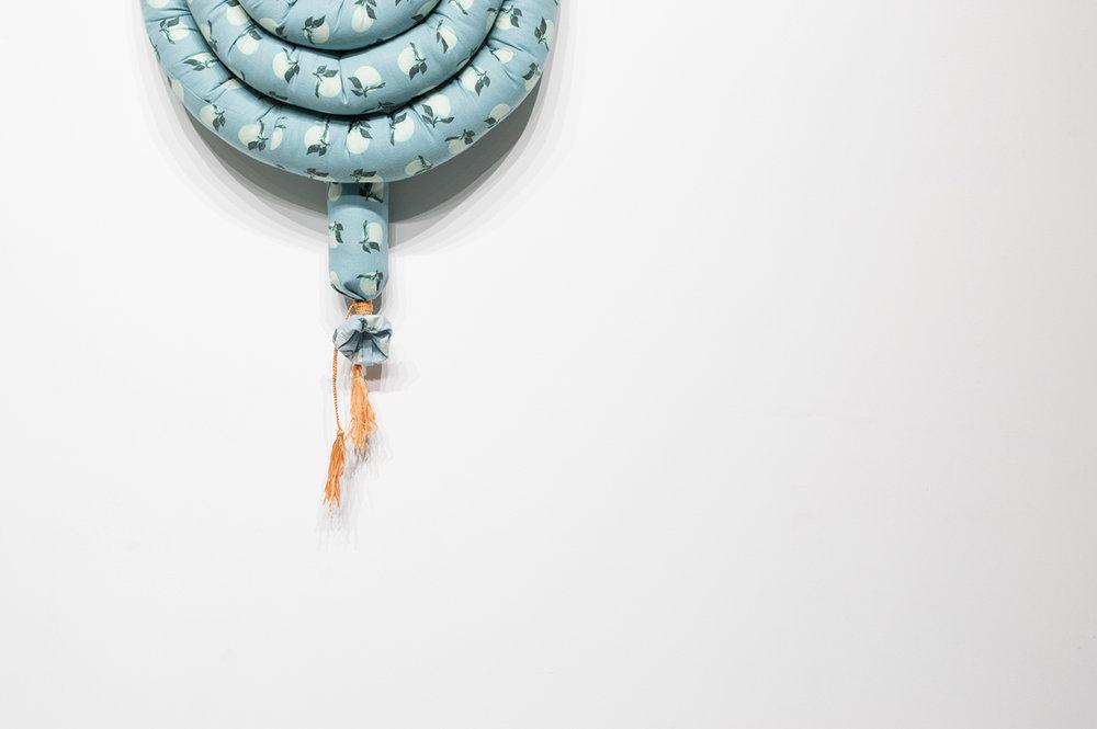 "Knots II (Detail), 2018, Soft Sculpture, 52"" x 20"" x 9"", $300"