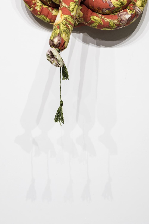 "Knots III (Detail), 2018, Soft Sculpture, 27"" x 20"" x 8"", $300"
