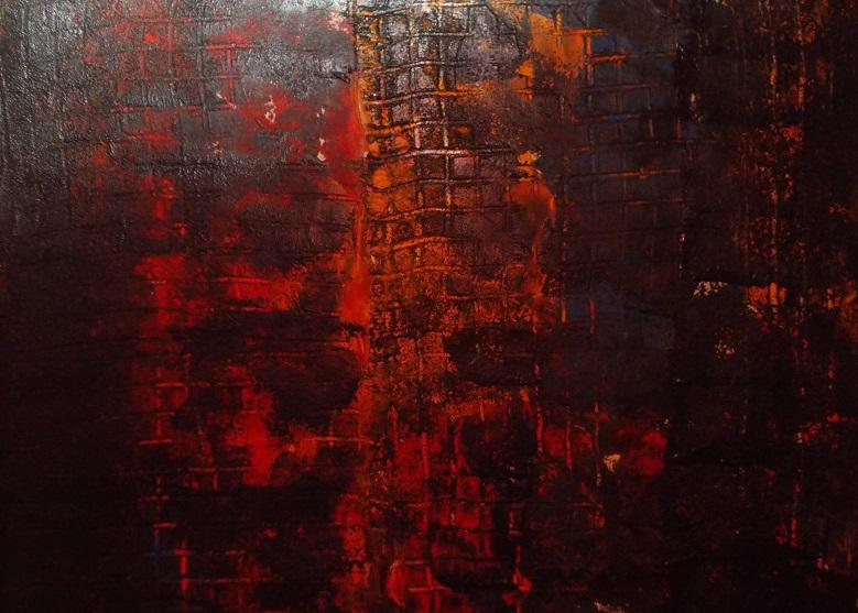Geo, 2018, Acrylic paint, 29 x 29, $170