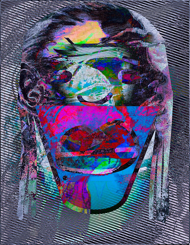 Thumbprint, 2018, Canvas, 36 H x 27 W, $5,000