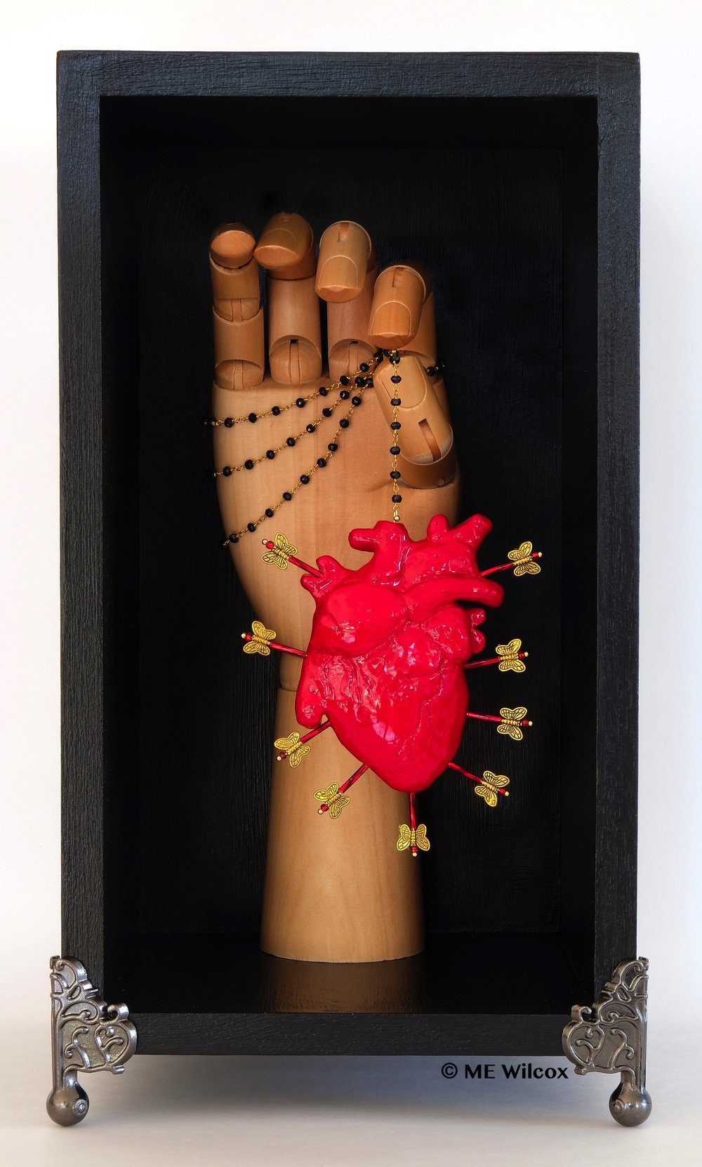 """Retroactive Love Icon"" Artist: ME Wilcox. Mixed media sculpture."