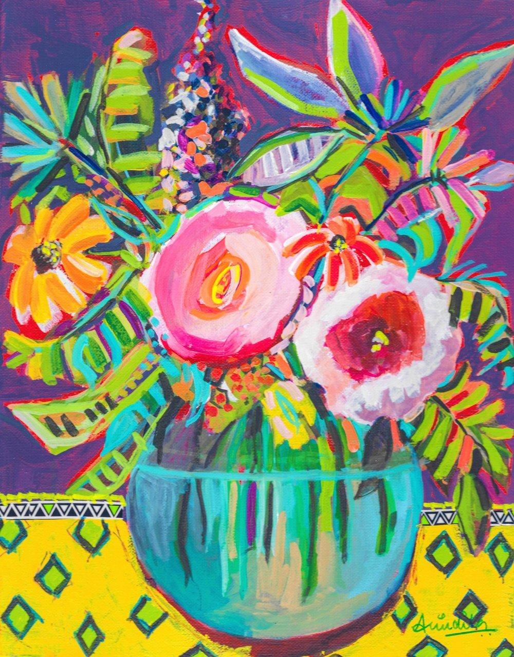 Harmony. 2019, Acrylic on canvas, 11 x 14 inches, $225