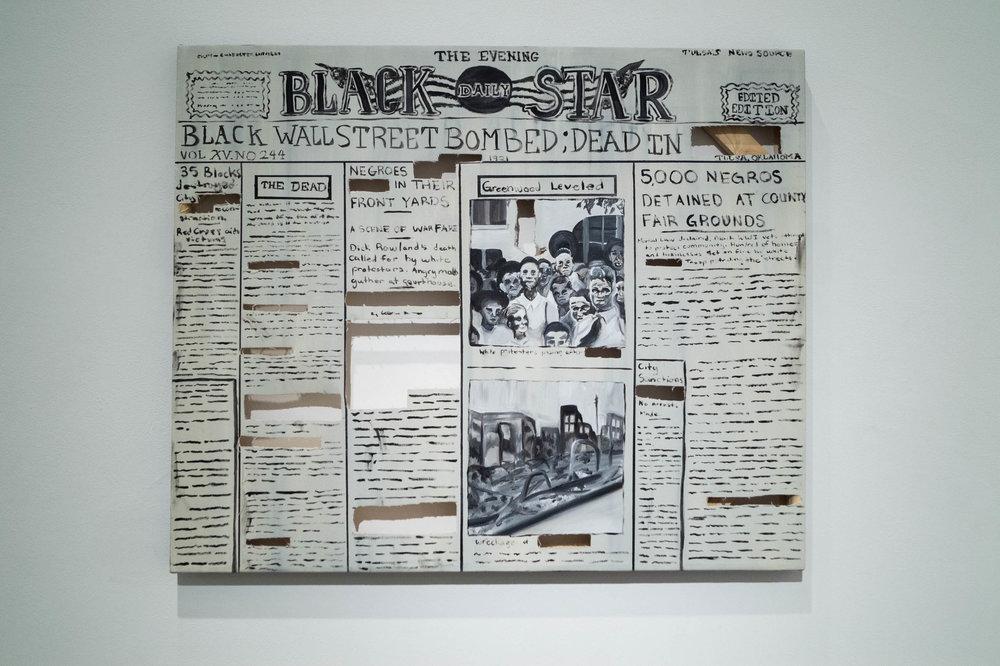 Black Star Edited Edition, 2018, Oil on canvas, 30 x 36, $350