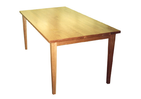 Cherry Plank Table - Natural FinishTapered legs36